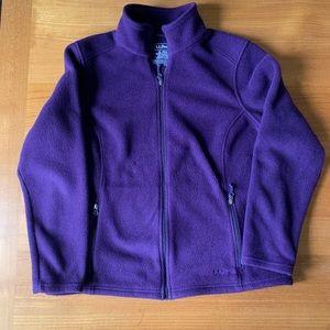 LL Bean Polartec Purple Fleece Size XL Full Zip